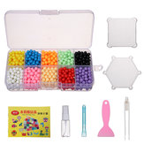 1100PCS Water Sticky Beads Magia Puzzle para niños Regalo Fuse Bead Sticky Bead 10 colores