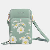 Women Daisy Clutch Bag Card Bag Phone Bag Crossbody Bag
