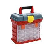 Многофункциональный 4-слойный пластик Коробка Large Рыбалка Коробка Болт Хранение деталей Коробка Хранение Рыбалка Приманки Коробка Аксесс