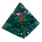 Himalaya's Stone Orgone Pyramid Energy Generator Tower Home Reiki Healing Crystal Decorations