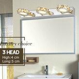3/6 / 9Wの浴室の虚栄心ライト白いLEDミラーの前部ランプの壁ライト1/2 / 3Head