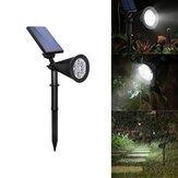 4W Solar 6 LED PIR Motion Sensor Luz de inundação Lâmpada de paisagem ao ar livre para Garden Garden