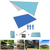 आउटडोर नमी प्रूफ तम्बू आश्रय 210D ऑक्सफोर्ड फैब्रिक अल्ट्रालाइट तह शामियाना टारपी झूला कैम्पिंग य