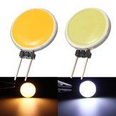 G4 2W 15COB LED Warmwhite / Branco para lâmpada de cristal LED Spot Lightt Lâmpada lâmpada AC / DC12V
