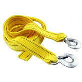 4M Tow Rope 5T 4x4 Heavy Duty Towing Pull Strap Road Recovering with Two Shackles