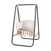 Metal Hammock A-shape Frame Chair Stand Swinging Seat Replacement Frame Cotton Hammock Chair