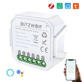 [2 Pcs] BlitzWolf® BW-SS7 Zi-Bee3.0 2300W Smart Light Switch Module 2 Gang Wireless App Remote Control Voice Control Time Schedule Works with Amazon Alexa and Google Assistant