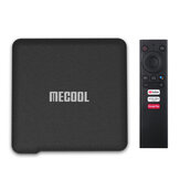 Mecool KM1 S905X3 ATV 4GB DDR RAM 64GB EMMC ROM Android 10.0 TV Box 2.4G 5G WIFI bluetooth 4.2 Google Gecertificeerde ondersteuning 4K YouTube Prime Video Google Assistant