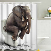 180x180CM Elephant Waterproof Bathroom Shower Curtain 12 Hooks
