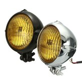 35W 12V Motocykl Reflektor H4 Amber Light Reflektor do Harley Bobber Chopper