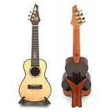 Soporte de soporte plegable de madera portátil adecuado para guitarra ukelele violín mandolina banjo