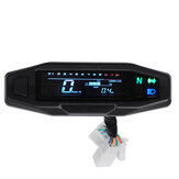 LCD Digital Motorcycle Multi Gauge Bar Speedometer Odo Tachometer Gear Indicator