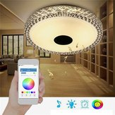 48W RGB Smart Dimbare 36 LED Plafondlamp Bluetooth Speaker APP Controlelamp AC110-260V
