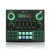 GAX-V9 Bluetooth Audio Mixer Carte Son USB Ordinateur Externe PC Téléphone Mobile Audio En Direct Microphone Carte Son