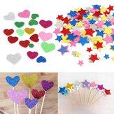30шт ассорти блестки формы сердца звезды круглые наклейки цветы пенопласта поделки ремесло