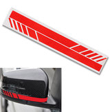 2Pcs Carbon Fiber 5D Stickers Vinyl Stripe Decal for Car Rearview Mirror Cover 30.5x4cm