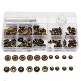 30Set 15mm Antique Brass Snap Fasteners Kit bottoni automatici con bottoni automatici