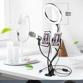 Flashes 4 em 1 Bakeey Luzes para selfies Transmissão ao vivo Maquiagem Lâmpada para selfies 360 graus comum Mangueira Suporte estável para luz