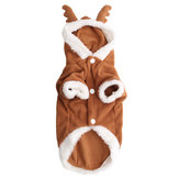 Pet Cachorro Filhote de Cachorro de Natal Linda Veados Camisola Com Capuz Macacão Casaco Roupas Outwear Casacos