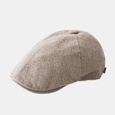 Mens Cotton Beret Caps Casual Outdoor Visor Forward Chapéu