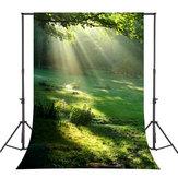 5x7FT Vinyl Forest Sunshine Photography Backdrop Background Studio Prop