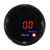 2inch 52mm 8-18V Voltage Volt Gauge Digital Blue+Red LED Display Black Face Meter