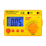 ALL SUN EM480B Audio Impedance Tester Portable Insulation CATIII Test Ranges 20/200/2000 Resistance Meter 1KHz Timer Function Data Hold