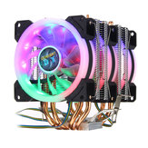 4Pin Three Fans 4-Heatpipes Colorful CPU con retroiluminación Enfriador del enfriador del ventilador del disipador de calor para Intel AMD
