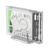 ORICO 2.5 inch Transparent USB3.0 Hard Drive Enclosure with Stand  PC Transparent Material SATA Mobile Hard Disk  Enclosure
