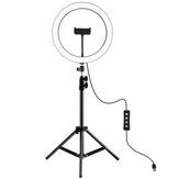 PULUZ PKT3056B 11,8 cala 30 cm 3 tryby Ściemniana lampa pierścieniowa LED dla Youtube Vlogging Transmisja wideo na żywo z mocowaniem statywu 110 cm