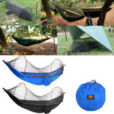 Outdoor Portable Camping Parachute Hammock Hanging Swing Bed With Mosquito Net