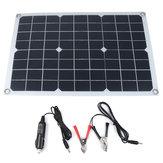 20W 18/5V 42 * 28cm DC Pannello monocristallino solare con clip DC5521 Batteria