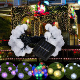 5M 20LED Dmuchawiec Ball Solar Christmas Party Decor Outdoor Fairy String Light Lamp