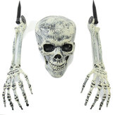 Halloween Decorations Supply 3PCS Skulls Fake Hands Toys For Kids Children Gift