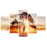 5 Pcs Wall Decorative Painting Sunset Wall Decor Art Pictures Canvas Prints Home Office Hotel Decorations