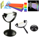 8cm Optical Glass Triangulaire Triple Prism Physics Enseigner Light Spectrum with Stand
