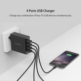 ORICO DCW-4U 30W Multi-port USB Charger 2.4A Smart Wall Charger Adapter Fast Charging For iPhone XS 11Pro Mi10 Note 9S S20+