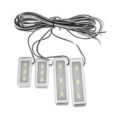 4pcs 3 LED Universal Car Armrest Inner Bowl Light Decorative Cool Door Handle Light Car Auto Interior Light Accessories
