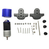URUAV Metal Transfer Gear Scatola + 370 Motor Set per WPL B16 B24 B36 C24 JJRC Q65 1/16 Rc Car