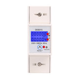 DDS015 Backlights Single Phase Energy Meter 5-80A 230V 50Hz Wattmeter Power Consumption Watt Electronic Energy Meter With Reset Function