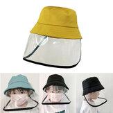 ZANLURE Children Anti-Fog Saliva Dustproof Protective Fisherman Bucket Hat Transparent Protective Mask Hat