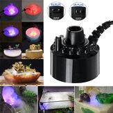 12LED Ultrasonic Atomizer Colorful Tank Light Mist Maker Aquarium Fish Lamp AC110-240V