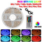 1M/2M/3M/4M/5M DC5V USB LED Strip Light Waterproof 5050 RGB Color Changing TV Backlight + 44Keys Remote Control