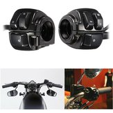 Motorcycle 25mm Diamater Handlebar Switch de controle com cablagem para Harley XL883