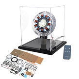 High Version 1:1 Alloy Arc Reactor DIY Model MK1 LED Light Mark Chest Tony Heart Lamp Light With Display Stand Cover Remote Control