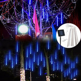 Solar Powered 30cm 8 Tube LED Meteorschauer Regen Garten Baum Outdooors HoliDay Licht