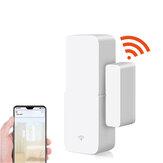 WiFi App Control Smart Door Sensor Trabalhe com Tuya Detectores de porta aberta e fechada Alerta de notificação de WiFi Alerta de segurança Suporte de alarme Alexa Google Home