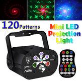 Obrotowy projektor laserowy 3 w 1 LED Oświetlenie sceniczne Aktywowane dźwiękiem USB Akumulator DJ Disco KTV Party Lamp