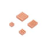 Caturda C2231 4-teiliger Kühlkörper aus reinem Kupfer Satz Speziell für Raspberry Pi 4B