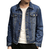 Mens Slim Turn Down Collar Spring Autumn Casual Denim Coats